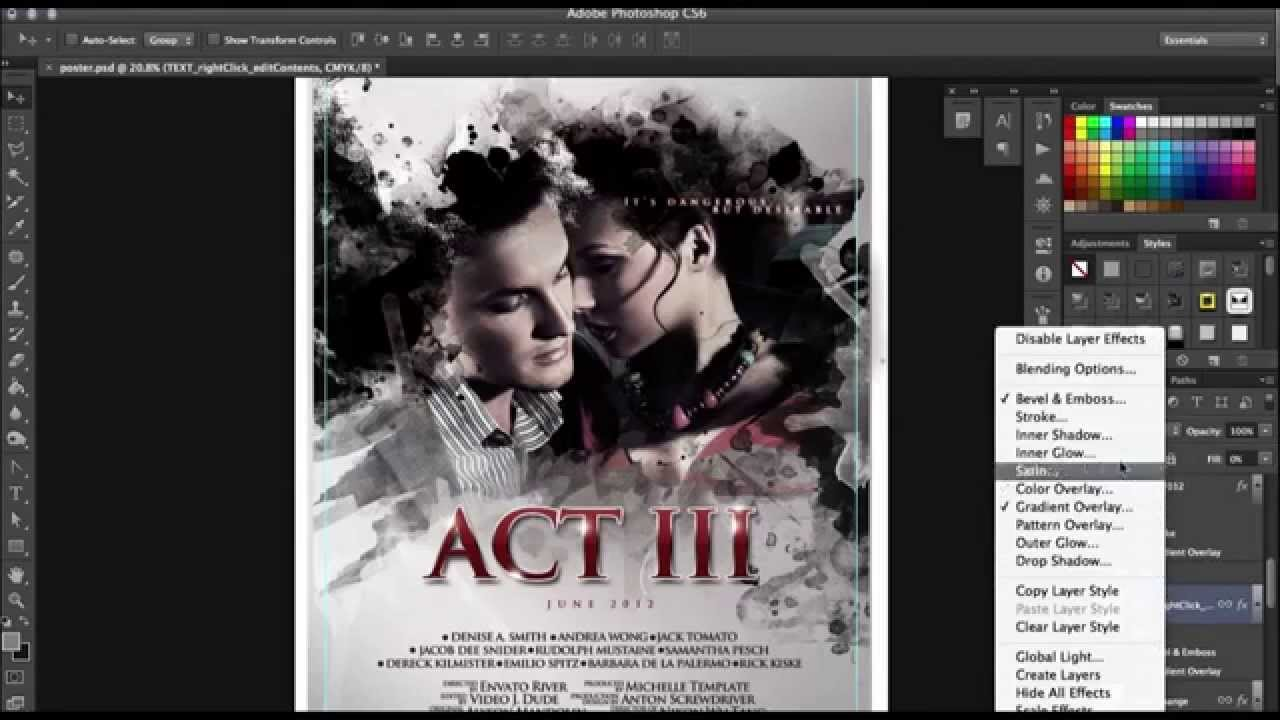 How to make a Film Poster in Photoshop in minutes (with no photoshop ...