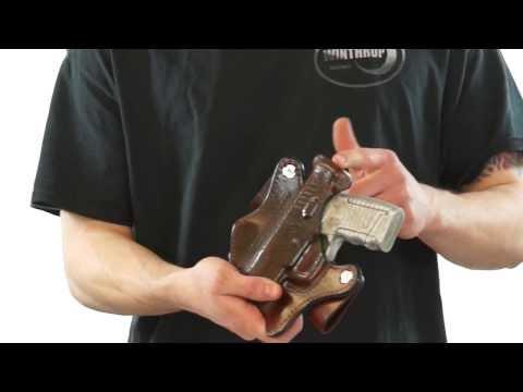"""H/&K USP 9mm 3.58/"""" Barrel Ambidextrous OWB Belt Slide Leather Holster Brown"""