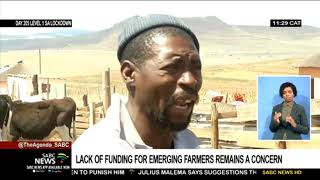 Lack of funding for emerging farmers remains a concern