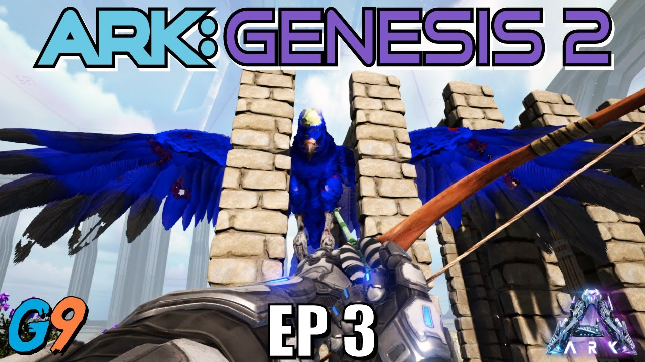 Ark Survival Evolved - Genesis 2 EP3 (Big Blue, Obsidian and Where's Oil?)