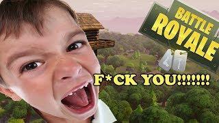 CRAZY KID KEPT CURSING ME ON FORTNITE (Funny Fortnite Trolling)