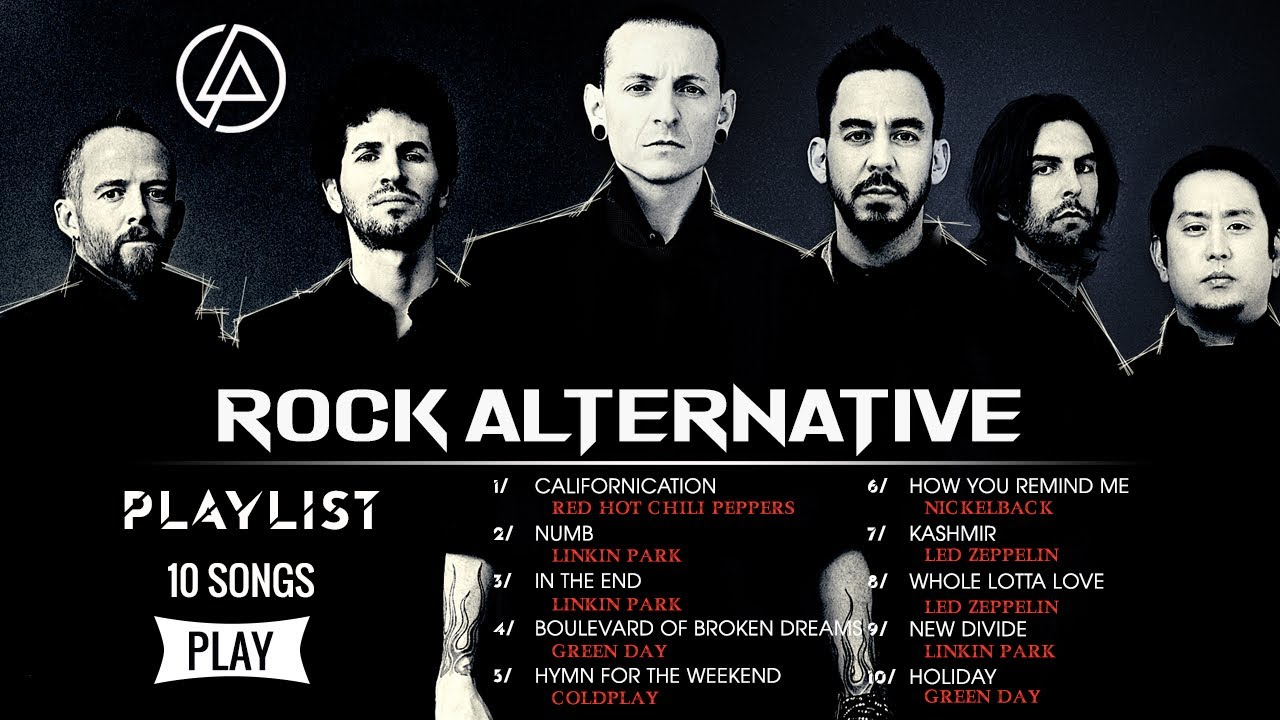 Download Linkin Park, Red Hot Chili Peppers, Green Day, Nickelback - All Time Favorite Alternative Rock Songs