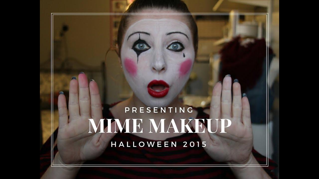 Halloween | Simple Mime Makeup - YouTube