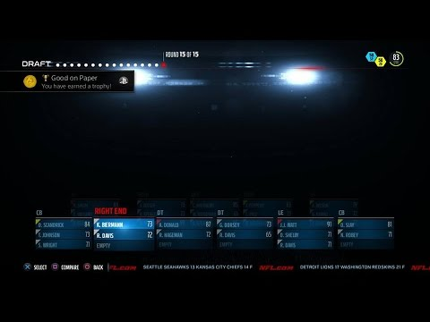 Madden NFL 16 ~ Good on Paper Trophy / Achievement Guide