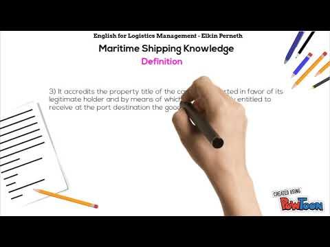 Bill of Lading (BL) - English For Logistics