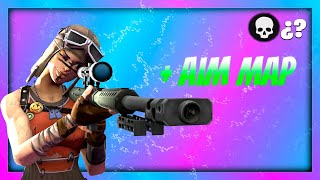 THE BEST MAP TO IMPROVE AIM IN FORTNITE! YOU CAN GET TO HAVE AIMBOT!!!