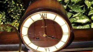 Floating Balance  Striking  Mantle / Mantel  Clock  Possibly German * See Video*