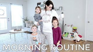 MORNING ROUTINE WITH 3 KIDS | And Baby Makes Six!