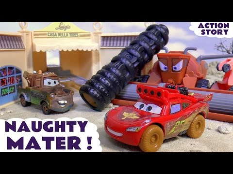 Thumbnail: Disney Cars Toys McQueen searches for naughty Mater who annoys Frank | Family Friendly kids fun TT4U