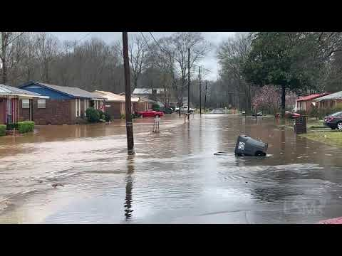 02-10-2020 Hueytown, AL - Flooded Houses And Impassible Roadways