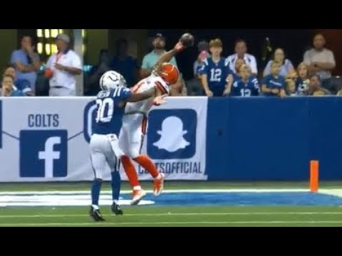 Jordan Leslie Amazing One Handed Catch vs Colts 2017 Week 3