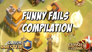 CLASH OF CLANS FUNNY EPIC FAILS COMPILATION (WAR AND RAID FAILS 2016)