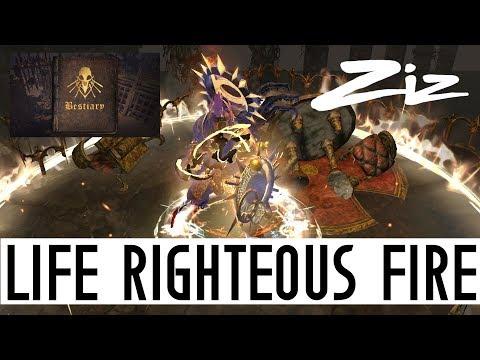 Path of Exile - 3.2 Life Righteous Fire - Super Regen RF Build Guide | Bestiary League by Zizaran