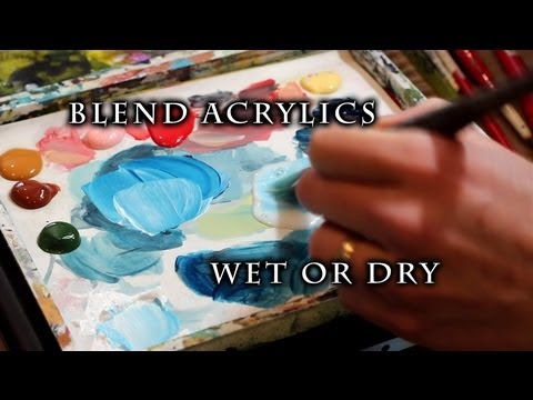 How to Blend Acrylic Paint on Canvas | Justin Hillgrove | Imps and Monsters