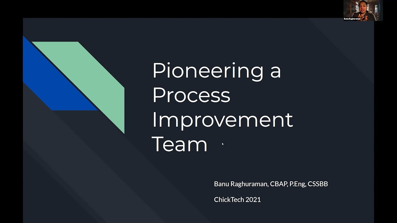 Pioneering a Process Improvement Team   ACT-W