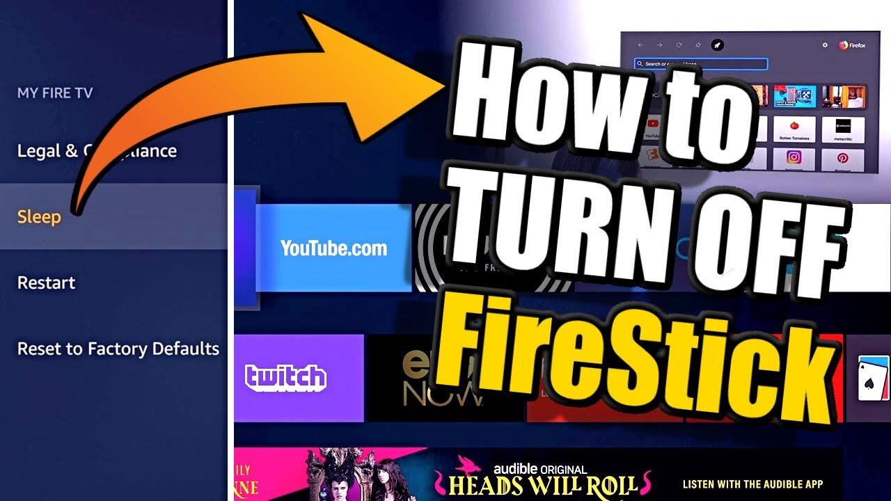 How to TURN OFF your FireStick TV Tutorial (Sleep Mode Shortcut)
