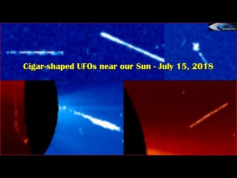 nouvel ordre mondial | Cigar-shaped UFOs near our Sun - July 15, 2018