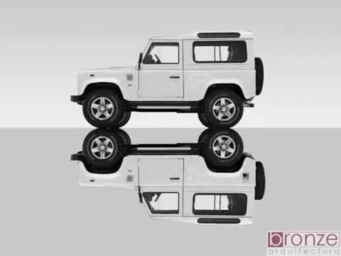 Land Rover Defender 90 yachting edition, de 2011, em SketchUp