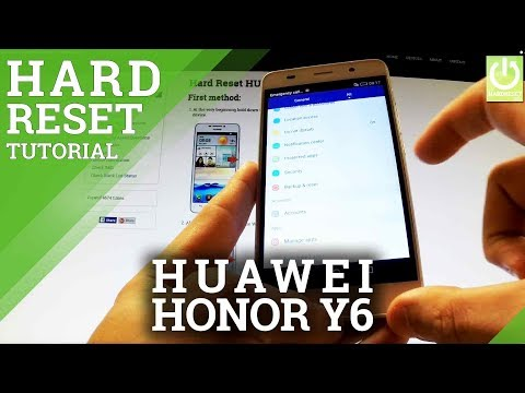 How to Erase Everything in HUAWEI Honor Y6 SCL-L01 - HUAWEI Factory Reset