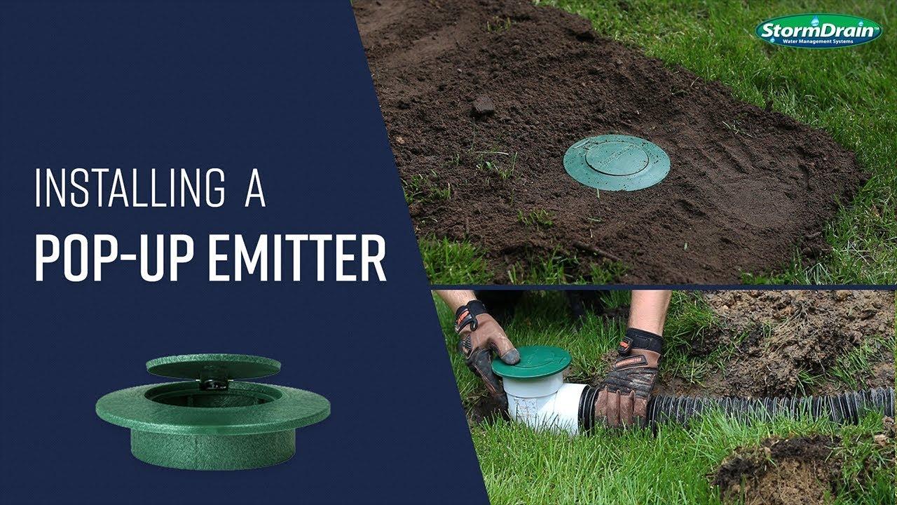Pop Up Emitter Drainage System