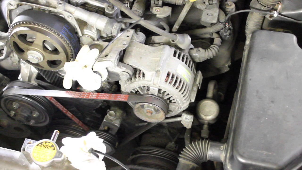 2000 toyota corolla engine diagram car stereo wiring kenwood project altezza -- service 1g fe - belts install part 5 youtube