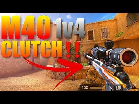 StandOff 2 M40 Sniper Crazy 1v4 Clutch Gameplay‼️