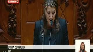 Intervenção de Emília Cerqueira no Plenário