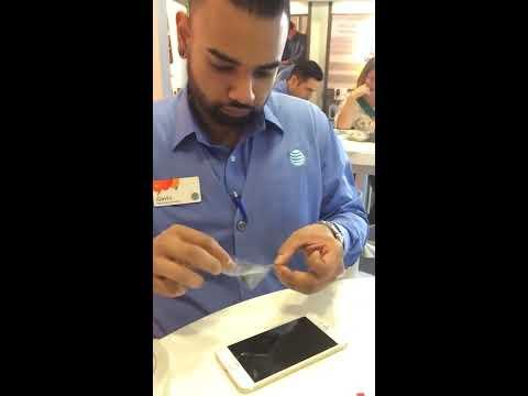Unintentional ASMR- Employee applying screen protector