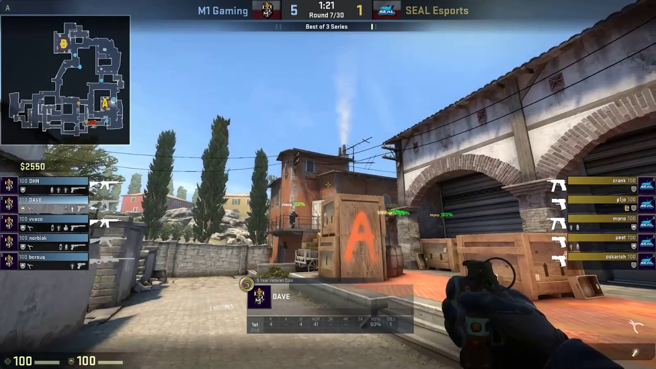 M1 GAMING DAVE + VACO vs Seal Esport