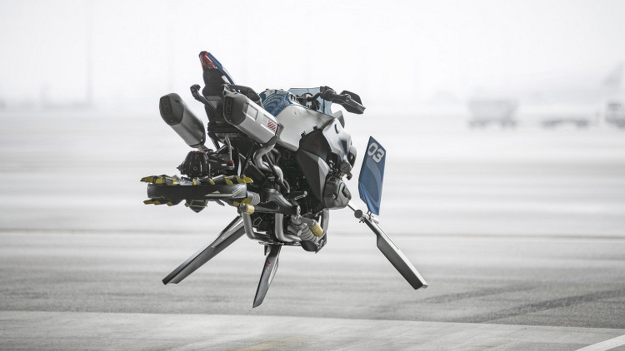 bmw hover bike concept   flying motor cycle - youtube