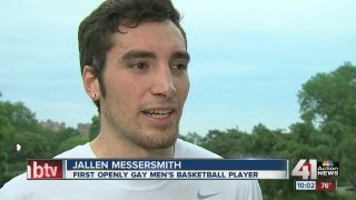 A Kansas college basketball player reveals that he is gay and talks...