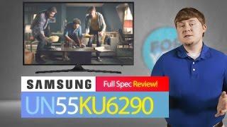 SAMSUNG UN55KU6290 ( KU6290 )  4K UHD TV // Specs TV Review