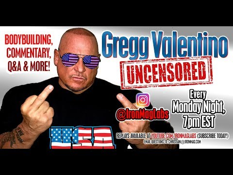 Gregg Valentino LIVE! (Ep5) - Destroys Luimarco, VeganGains