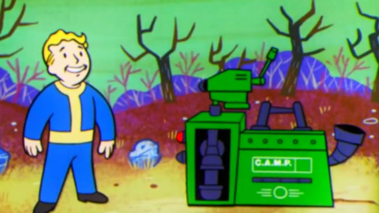 FALLOUT 76 – Crafting & Building NEW Animation Vault Boy Trailer (2018)