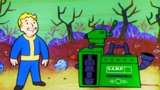 FALLOUT 76 - Crafting & Building NEW Animation Vault Boy Trailer (2018)