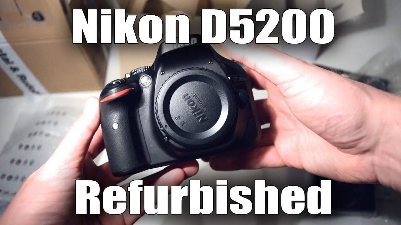 Nikon D5200 Refurbished by Nikon Unboxing / First Impressions