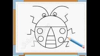 BÉ HỌA SĨ - Thực hành tập vẽ 24: Vẽ con cánh cam