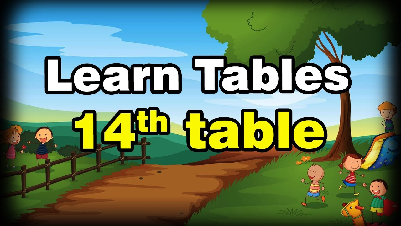 Learn Table 14th | Preschool Children Videos | Kids Animation Videos ||  Lion Media || Lion Media