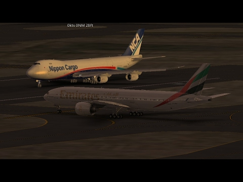 Infinite Flight Simulators broadcast. Emirates Airlines Boeing -777-200LR Takeoff (San Francisco)