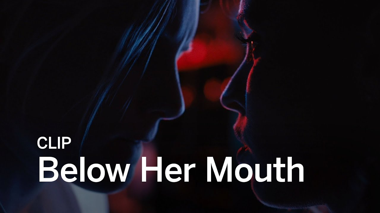 below her mouth stream