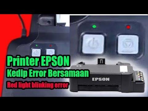 Cara mereset printer Epson L120 lampu power dan lampu resume menyala berkedip bergantian | tidak bis.