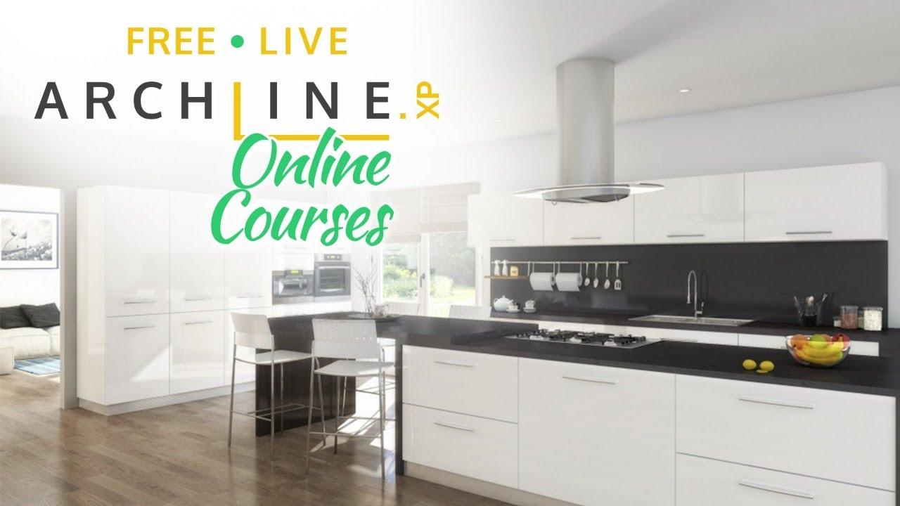 Kitchen Design Archline Xp Preliminary Interior Design Course 4 Youtube