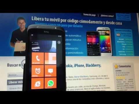 Liberar HTC Mozart vía código imei para Vodafone, Yoigo y Movistar