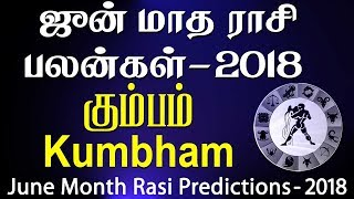 Kumbha Rasi (Aquarius) June Month Predictions 2018 – Rasi Palangal