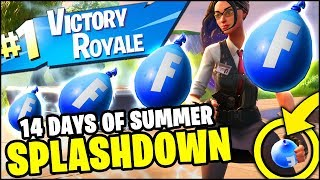 Fortnite SPLASHDOWN LTM VICTORY ROYALE (Fortnite 14 Days of Summer LTM Gameplay)