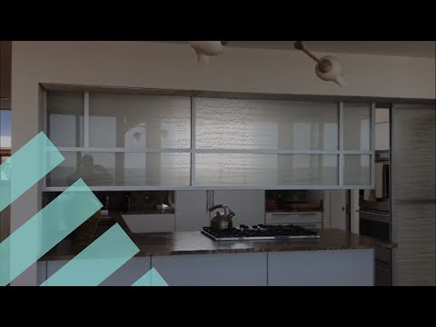 Bendheim Project | Movable Decorative Glass Wall I Kitchen Design