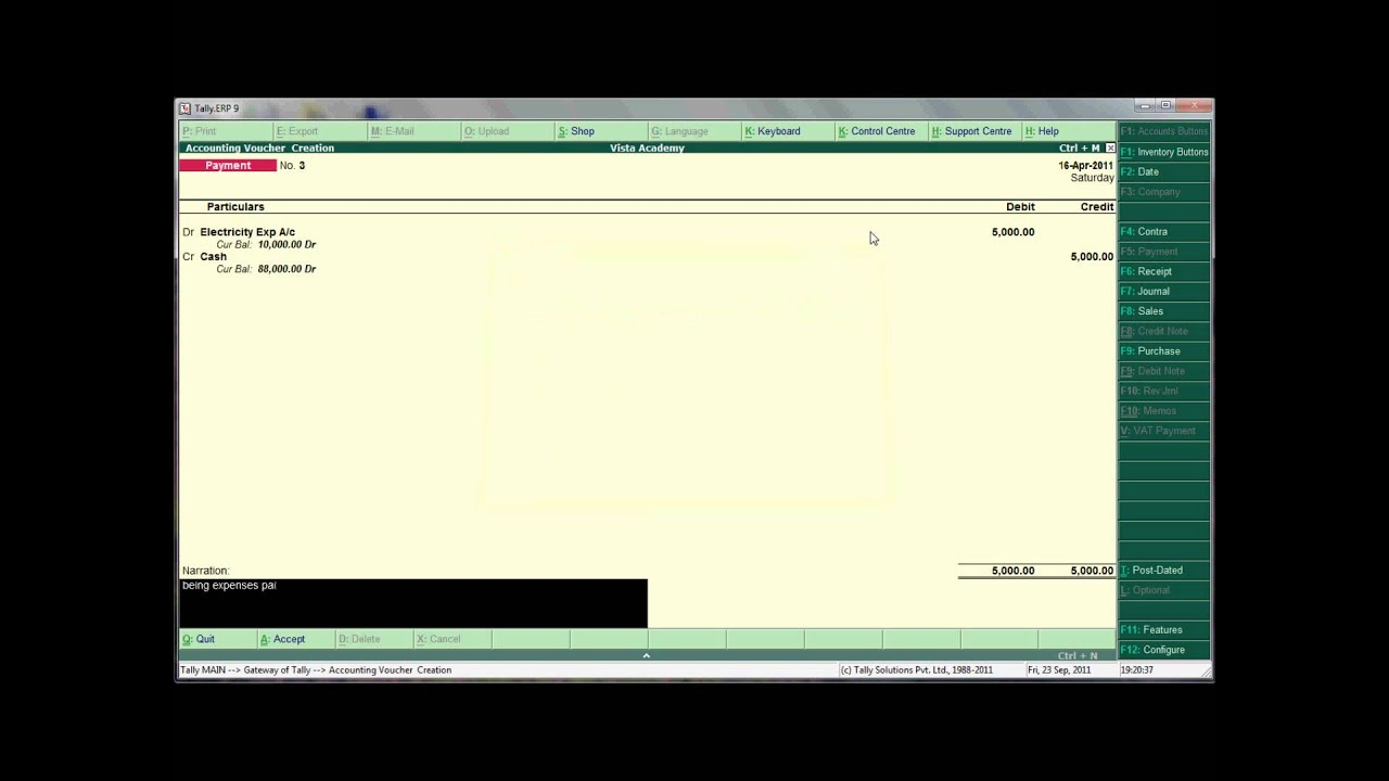 TALLY VOUCHER ENTRIES EXPENSES YouTube