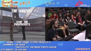SGDQ 2014 - Tony Hawk's Pro Skater 3 WORLD RECORD
