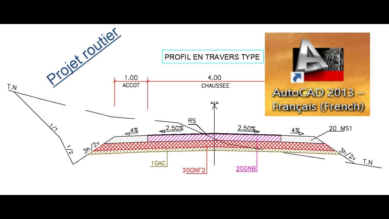 Projet routier (Présentation) _Dessin du Profil en Travers Type