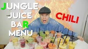 TESTISSÄ: Jungle Juice Bar Menu